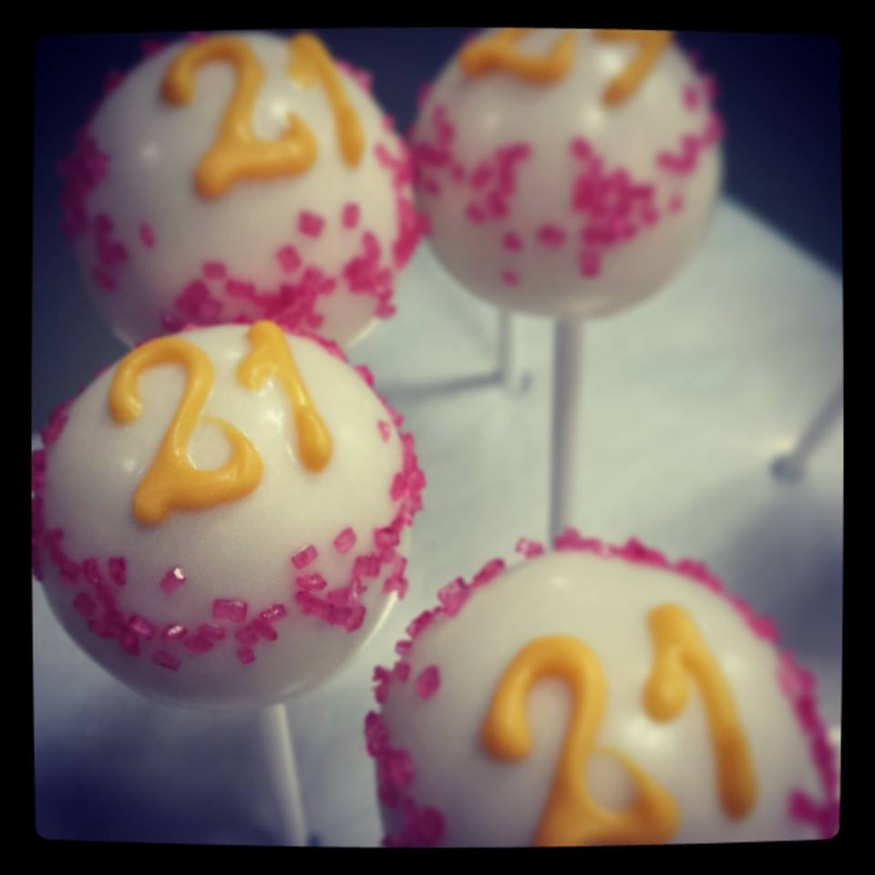 21st Birthday Cake Pops
