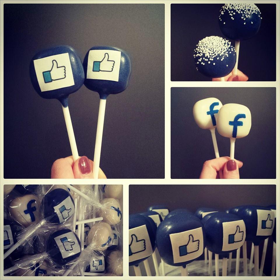 Facebook cake pops