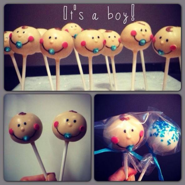 boy cake pop