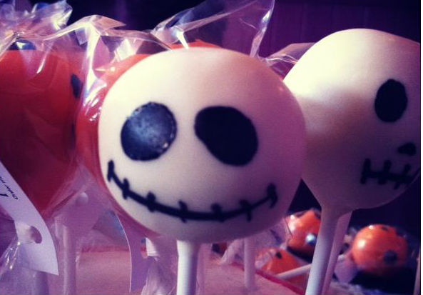 Jack Skellington Halloween cake pops