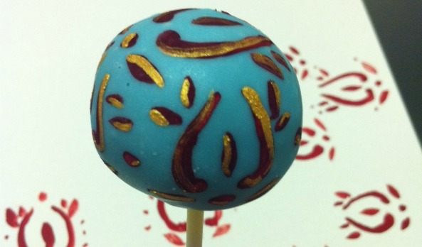 colonial Indian handpainted cake pops