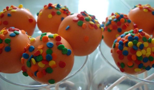 Orange cake pops