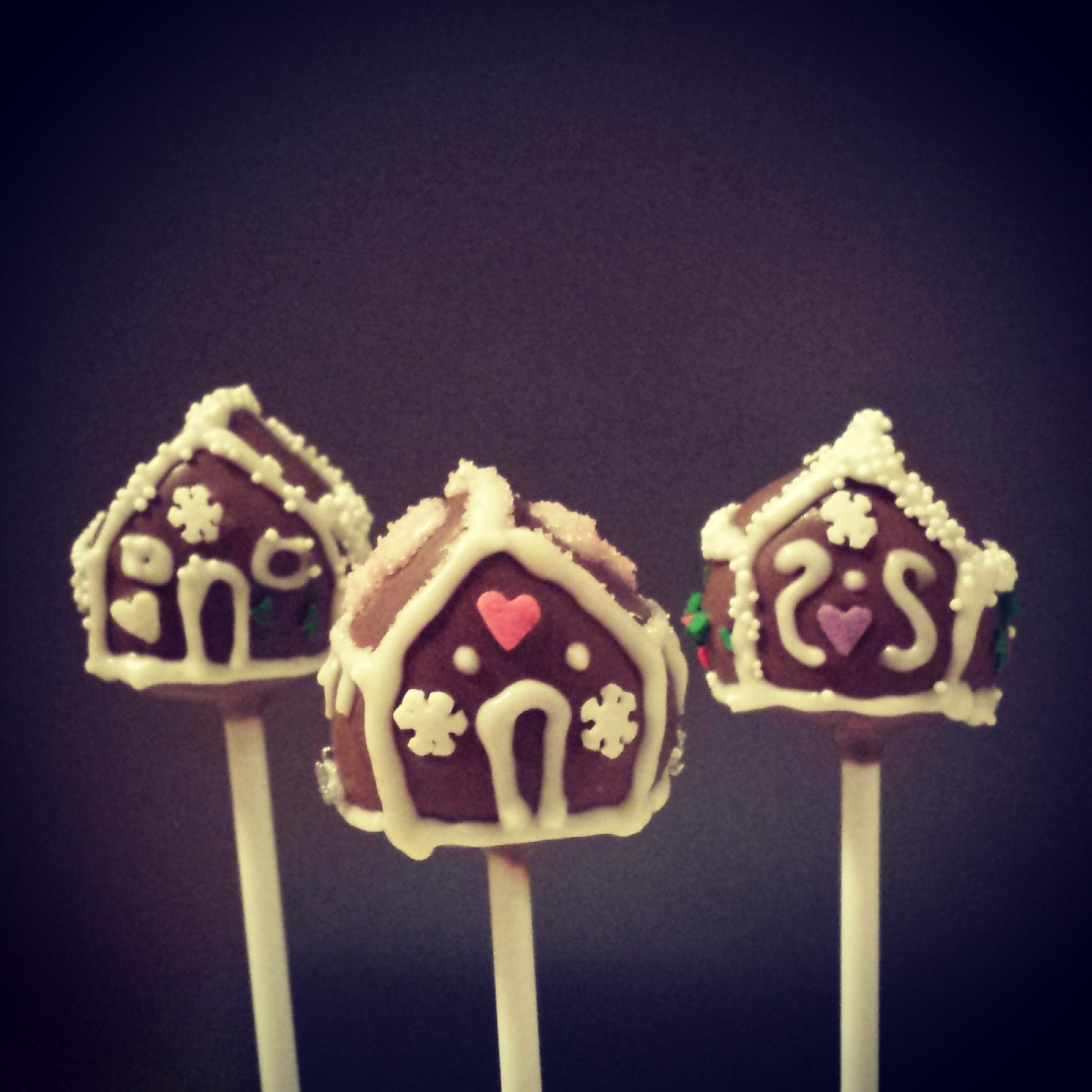 gingerbread house cake pops