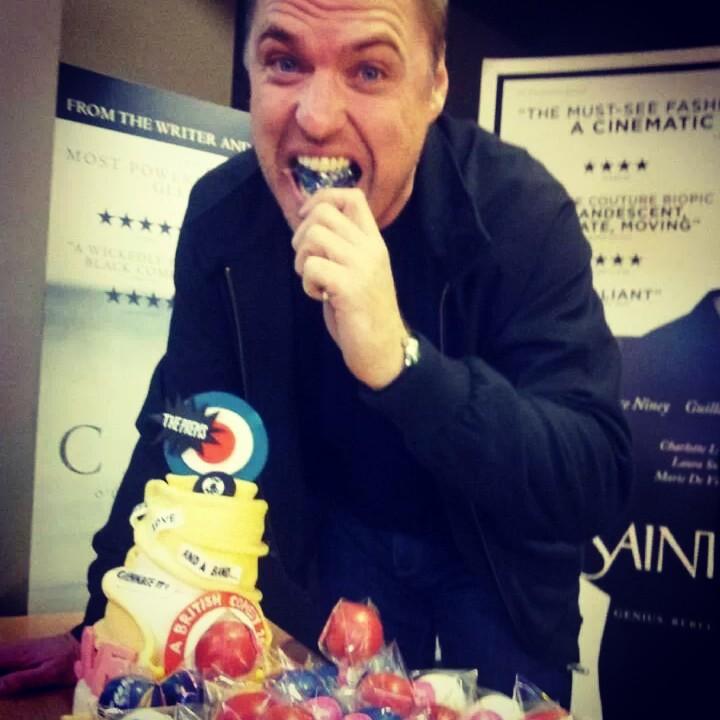 Jonny Owen and Delish cake pop