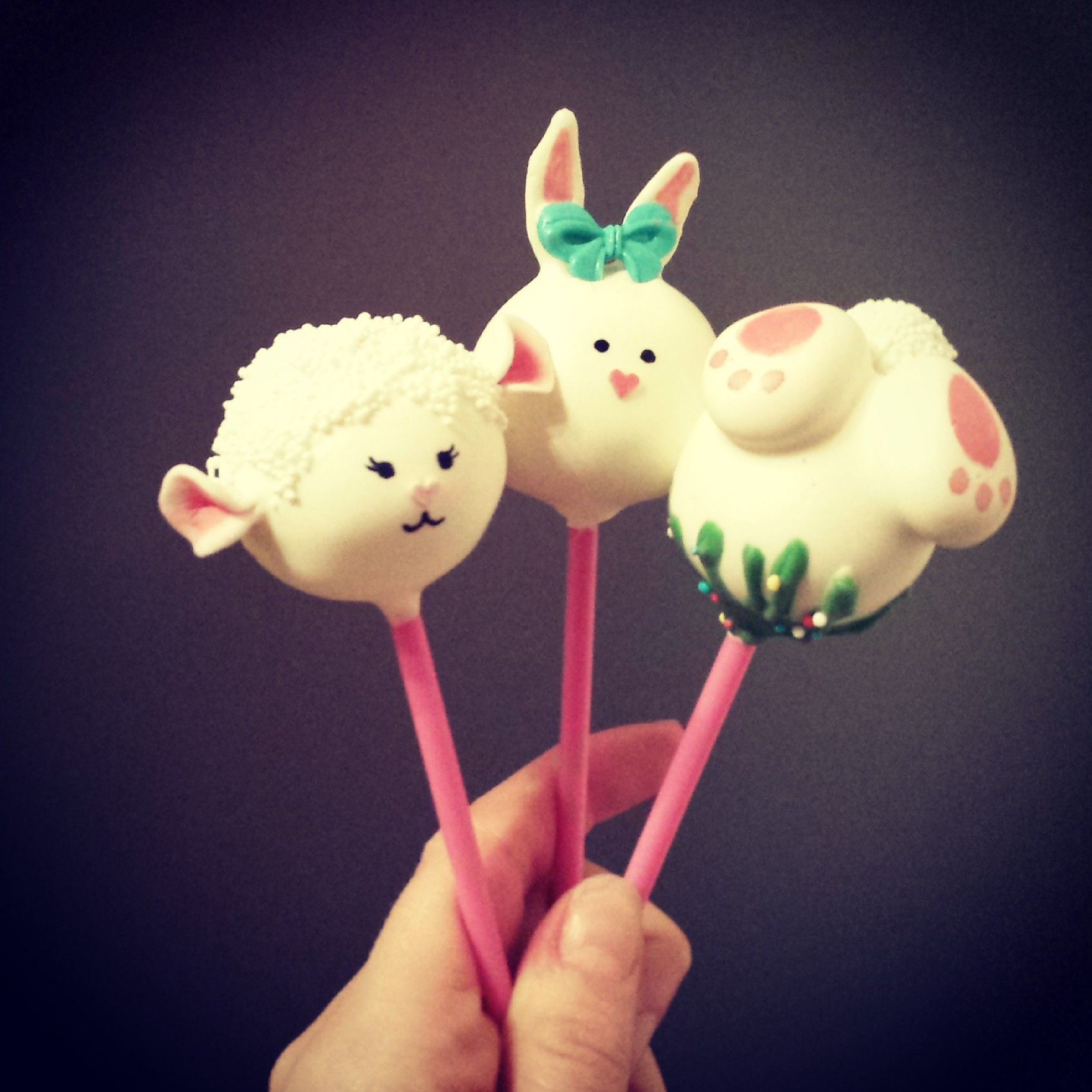 Easter creatures cake pops