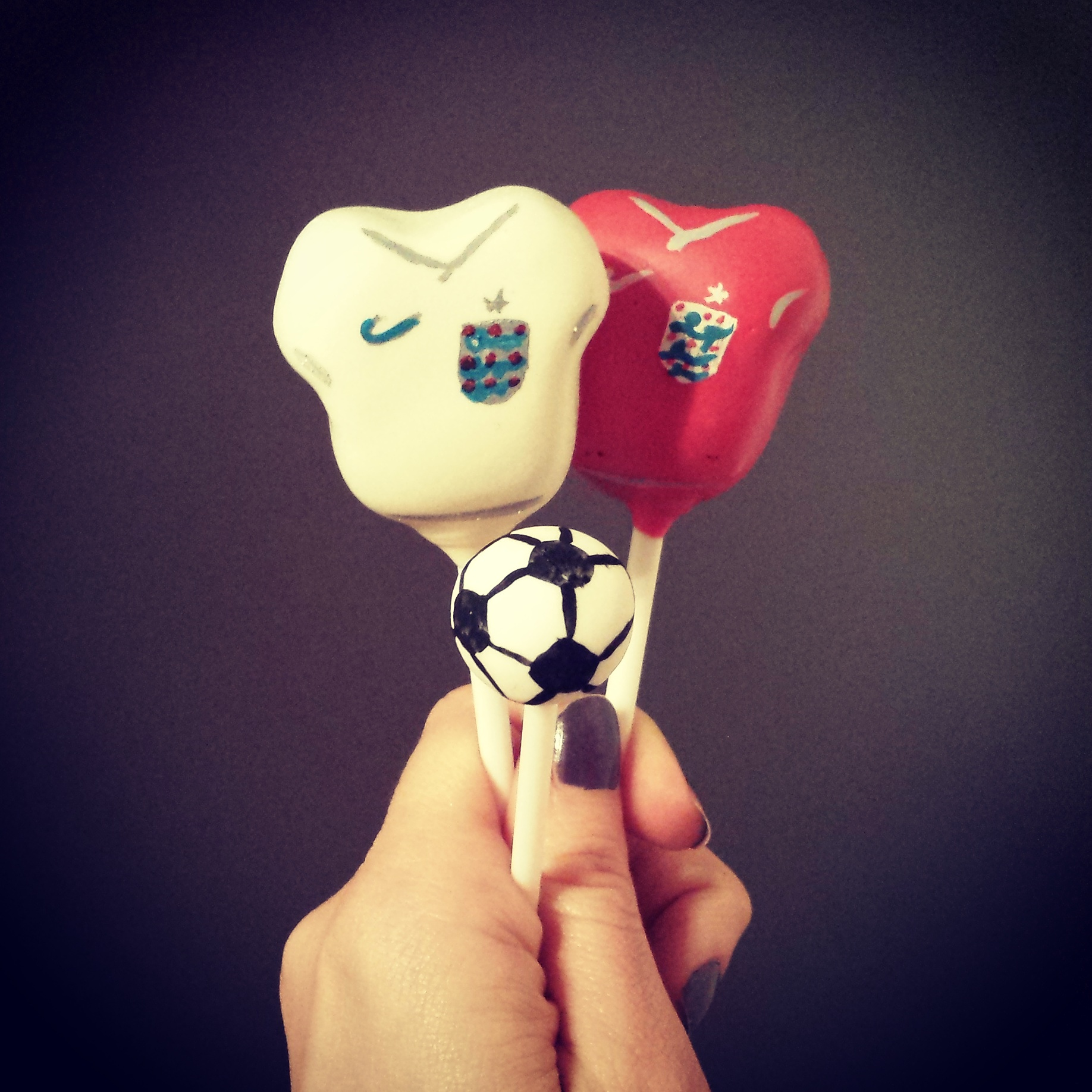 England football shirts cake pops