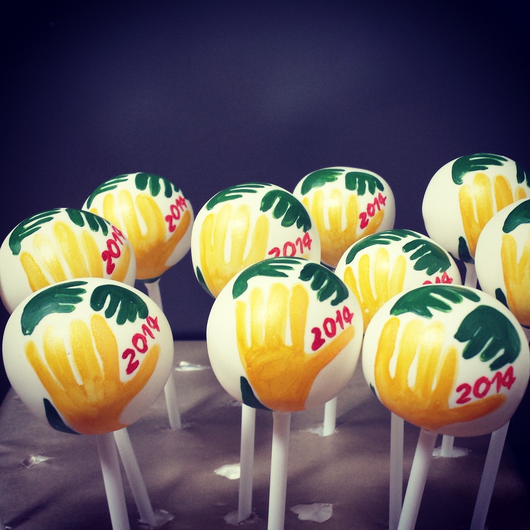 World Cup cake pops