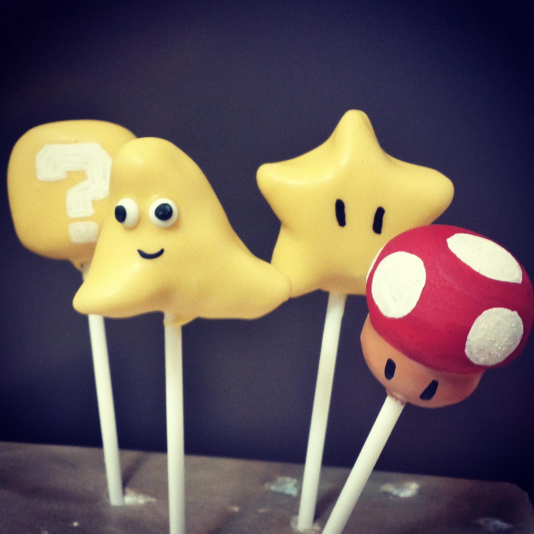 Mario Kart cake pops